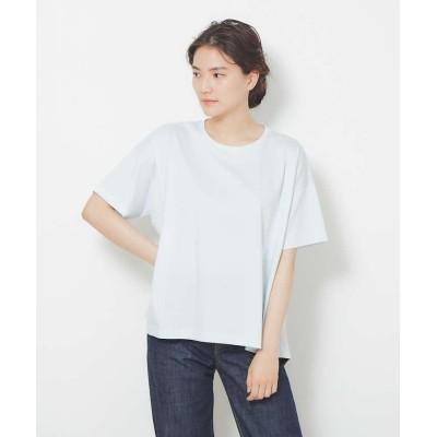 (collex/コレックス)【接触冷感】コンパクトクールフレアーTシャツ/レディース サックスブルー