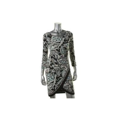 ドレス 女性  インク INC 4435 レディース ブラック Matte Jersey Paisley Wear to Work ドレス XS