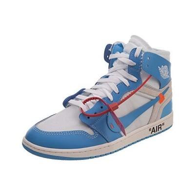 Nike Mens Air Jordan 1 X Off White NRG UNC White/Dark Powder Blue Leather Size 6.5【並行輸入品】