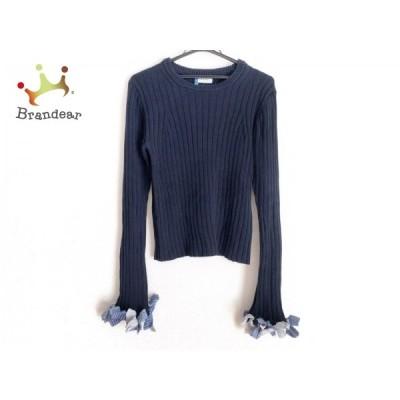アイレネ IRENE 長袖セーター サイズ36 S レディース - ダークネイビー×ライトブルー×マルチ   スペシャル特価 20210214