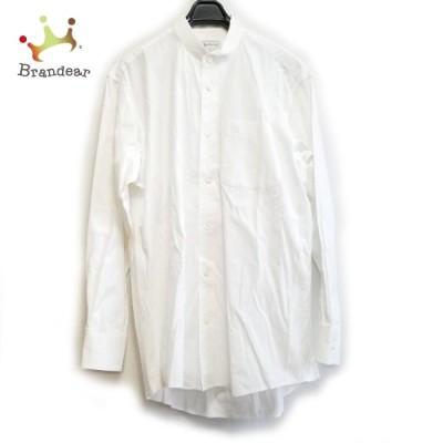 バーバリーズ Burberry's 長袖シャツ サイズM メンズ - アイボリー 新着 20210321