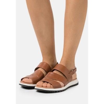 カプリス サンダル レディース シューズ Sandals - cognac