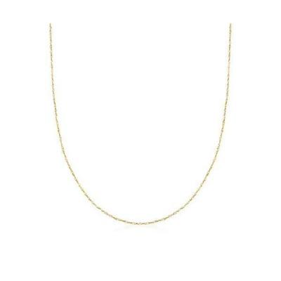 Ross-Simons Italian .8mm 14kt Yellow Gold Adjustable Singapore Chain Necklace【並行輸入品】