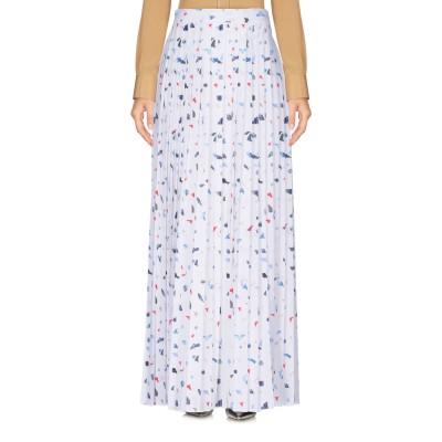 LES BOHĒMIENS ロングスカート ホワイト S ポリエステル 100% ロングスカート