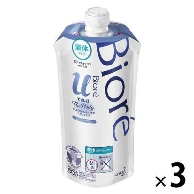 花王ビオレu ザ ボディ 液体タイプ ピュアリーサボンの香り 詰め替え 340ml 3個 ボディーソープ 花王