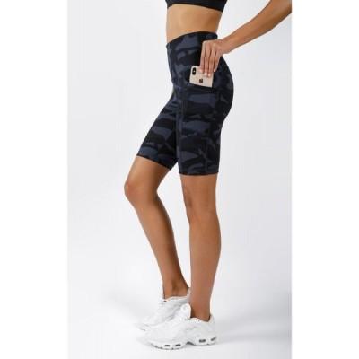 """ヨガリシャス Yogalicious レディース 自転車 サイクルパンツ ショートパンツ ボトムス・パンツ Lux Camo High Waist 9"""" Biker Short with Side Pockets"""