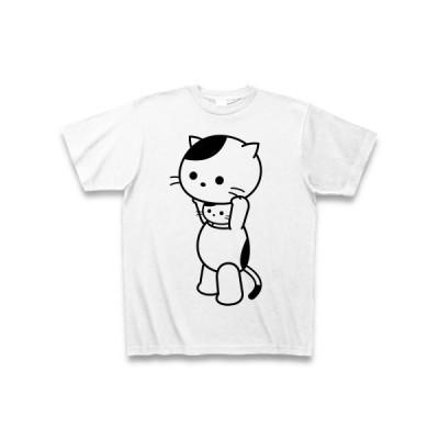 着ぐるみバイトねこ(立ちバイト) Tシャツ(ホワイト)