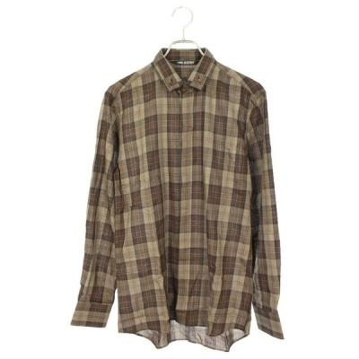 ニールバレット Neil Barrett サイズ:38 スリムフィット チェック柄長袖シャツ 中古 BS99