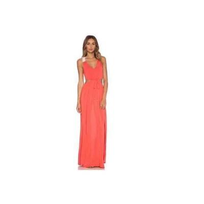 ドレスes 海外セレクション Lspace L*Space Wonderwall Maxi Dress Cover Up-Red Coral-XS SAME DAY SHIPPING