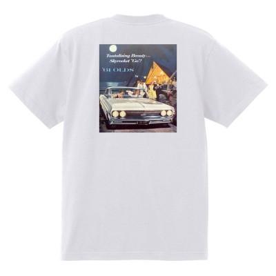 アドバタイジング オールズモビル 607 白 Tシャツ 黒地へ変更可  1961 スターファイア カトラス 98 88 ダイナミック スーパー ホットロッド