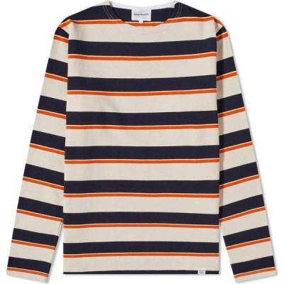 ノースプロジェクト Norse Projects メンズ 長袖Tシャツ トップス long sleeve godtfred classic compact tee Golden Orange