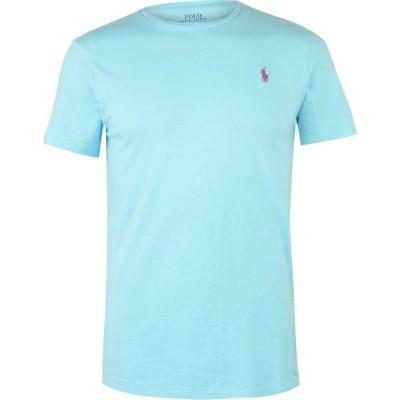 ラルフ ローレン Polo Ralph Lauren メンズ Tシャツ トップス Custom T Shirt Hammond Blue