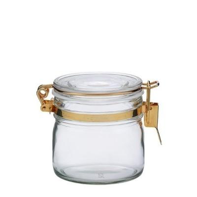 星硝 セラーメイト ガラス保存 密封瓶 0.5L ゴールド 粉末 乾物 保存容器 ジャム 調味料 密封びん 密封ビン 4974452220414
