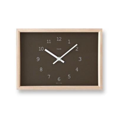 NY14-02 WH/BW Kaede カエデ タカタレムノス 掛け時計 takata lemnos 置き時計 奈良雄一 デザイン Nara Yuichi