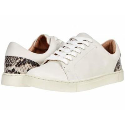 Frye フライ レディース 女性用 シューズ 靴 スニーカー 運動靴 Ivy Low Lace Powder White Multi Waxed Leather/Embossed【送料無料】