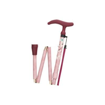 Fuji Home(フジホーム) Walking Stick(ステッキ・杖) WB3752 アクティブグレース 折畳S 桜ピンク