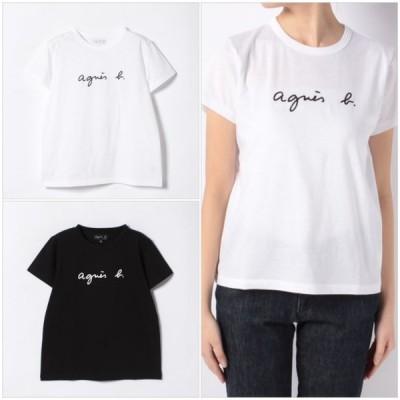 アニエス・ベー  Tシャツ agnes b. ロゴ レディース 半袖 ag-14