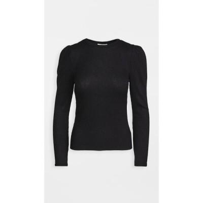 ゼットサプライ Z Supply レディース ニット・セーター パフスリーブ リブ トップス Kaia Rib Puff Sleeve Top Black
