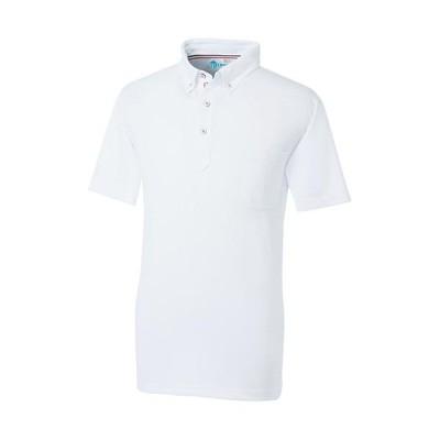 桑和(SOWA) 半袖ボタンダウンポロシャツ 0/ホワイト SS〜3Lサイズ 50391 作業着 作業服 ワークウェア ウエア トップス メンズ レディース