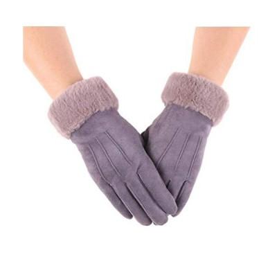Caissip手袋 レディース 五本指 冬 てぶくろ グローブ タッチパ対応 防寒 裏起毛 フワフワ クリスマス プレゼン?