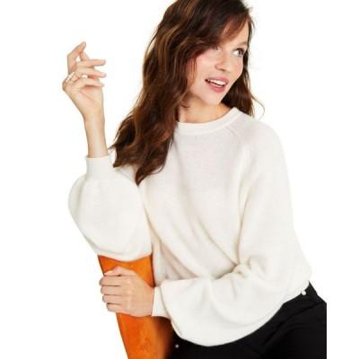 チャータークラブ Charter Club レディース ニット・セーター トップス Cashmere Brushed Blouson-Sleeve Sweater Bianco Crema