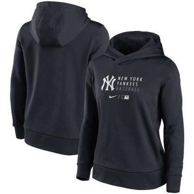 ナイキ レディース パーカー・スウェット アウター New York Yankees Nike Women's Authentic Collection Fleece Pullover Hoodie