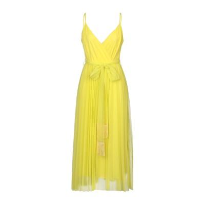 モーテル MOTEL ロングワンピース&ドレス イエロー M ポリエステル 100% / ポリウレタン ロングワンピース&ドレス