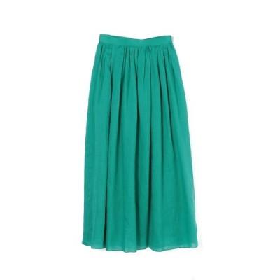 スカート SACRA / ラミーローンギャザーロングスカート