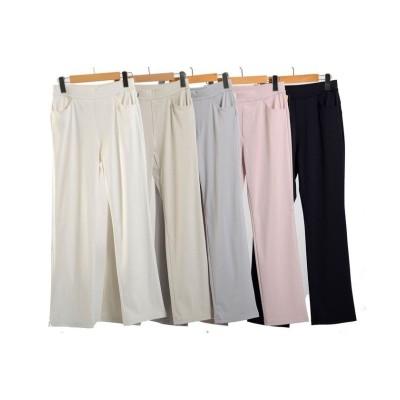 【アールエムストア】 綿混ハイテンションストレートパンツ(B41333BT) レディース ピンク XL~ RM STORE