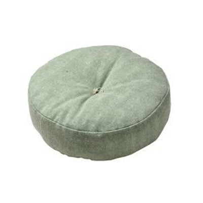 ds-2113344 インド綿 フロアラウンドクッション 【ライトグリーン】 45R×12cm 円形 綿100%カバー 〔リビング ベッドルーム〕【代引不可