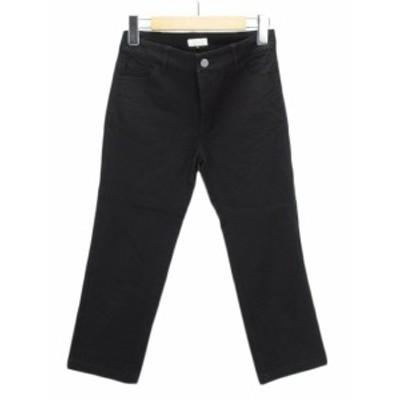 【中古】オットー OTTO パンツ テーパード クロップド ストレッチ 5 黒 ブラック