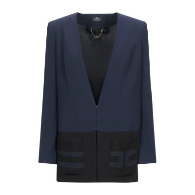 ELISABETTA FRANCHI テーラードジャケット ダークブルー 42 ポリエステル 100% / レーヨン テーラードジャケット