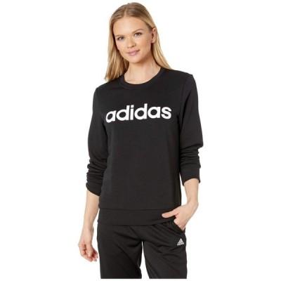 アディダス adidas レディース トップス Essentials Linear Crew Neck Black/White