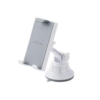 エレコム ELECOM 車載タブレット対応スタンド ゲル吸盤タイプ ホワイト P-CARTB01WH