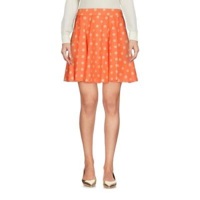 JEREMY SCOTT ミニスカート  レディースファッション  ボトムス  スカート  ロング、マキシ丈スカート オレンジ