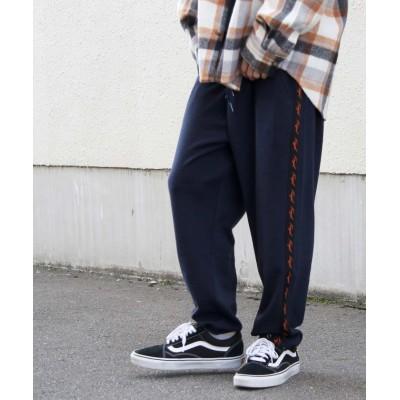 (ZIP FIVE/ジップファイブ)【kgaf-0210】KANGOL サイドラインポンチワイドジョガーパンツ/メンズ ネイビー