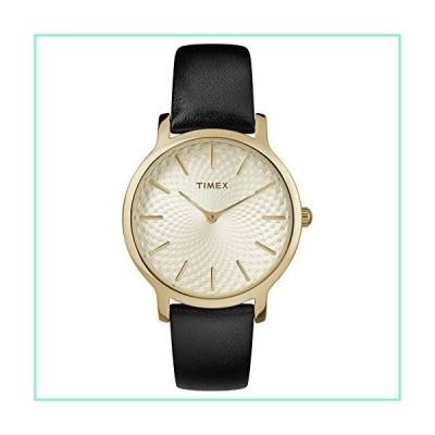 Timex レディース メトロポリタン 34mm 腕時計 ブラック/ゴールドトーン/ホワイト。【並行輸入品】