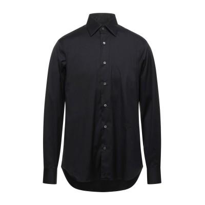 ロベルト カヴァリ ROBERTO CAVALLI シャツ ブラック 44 コットン 75% / ナイロン 21% / ポリウレタン 4% シャツ