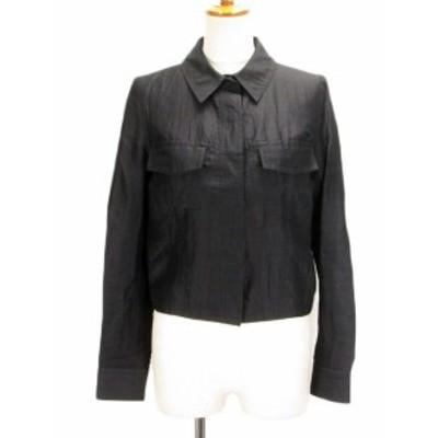 【中古】ボディドレッシングデラックス BODY DRESSING Deluxe ジャケット シャツ ステッチ リネン混 9 黒 レディース