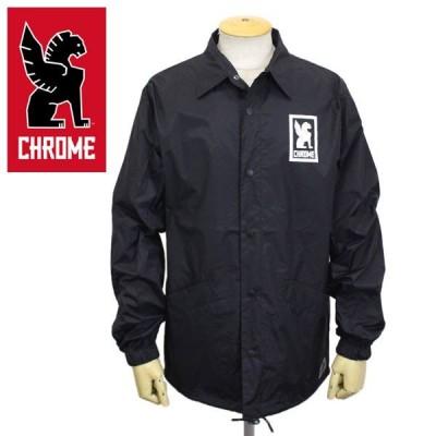 CHROME (クローム クロム) JP030 LOGO COACH JACKET ロゴ コーチジャケット BLACK CH189