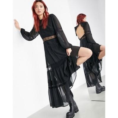 エイソス レディース ワンピース トップス ASOS EDITION tiered maxi dress with applique embroidery