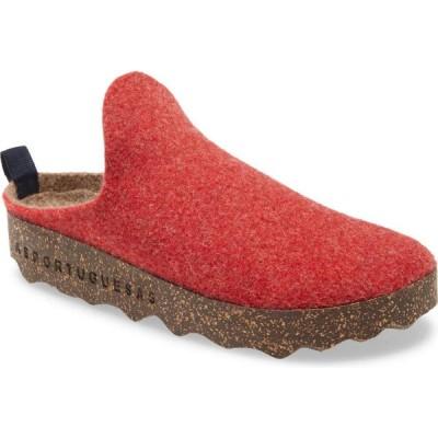 フライロンドン ASPORTUGUESAS BY FLY LONDON レディース スニーカー シューズ・靴 Fly London Come Sneaker Mule Red Fabric