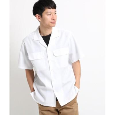 【ザ ショップ ティーケー】 さらさらオープンカラー半袖シャツ メンズ オフホワイト 02(M) THE SHOP TK