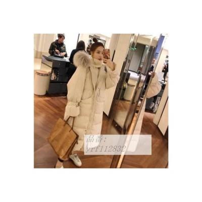 ダウンジャケット 2020 冬 新しい 韓国風 韓風 ゆるい ミドル丈 ダウンジャケット 綿の服 アプセット加工 コート レディース 20代 30代 40代 服 韓国風 韓風
