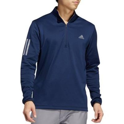 アディダス メンズ ジャケット・ブルゾン アウター adidas Men's Midweight 3-Stripe -Zip Golf Pullover