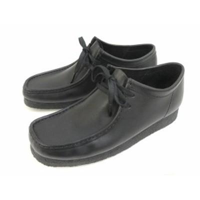 【中古】クラークス clarks WALLABEE BOOT ワラビー ブーツ レザー 本革 靴 シューズ 27.5 黒 ブラック メンズ