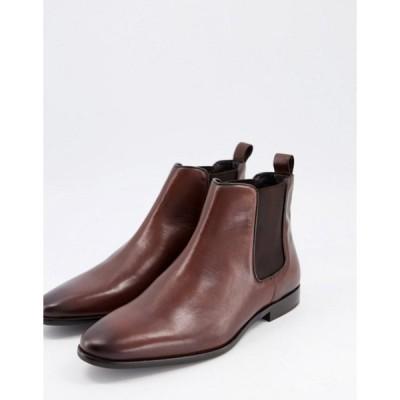 ウォークロンドン メンズ ブーツ・レインブーツ シューズ Walk London alfie chelsea boots in brown leather