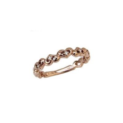 ハートリング ダイヤモンドリング 指輪 ハートモチーフ ピンクゴールド k10 ダイヤモンド 0.03ct 送料無料 アクセサリー 人気  記念日 母の日 早割