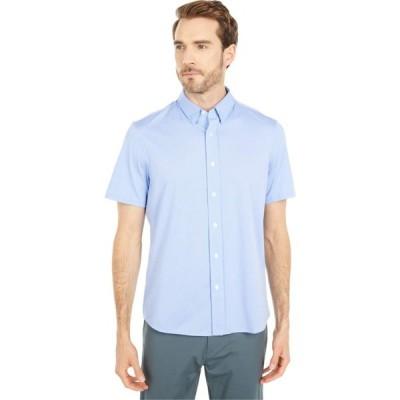 ローヌ Rhone メンズ 半袖シャツ トップス Short Sleeve Commuter Dress Shirt Blue