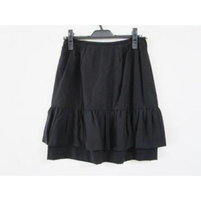フォクシー FOXEY スカート サイズ40 M レディース - 黒 ひざ丈【中古】20210116
